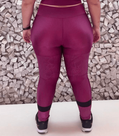 Legging plus size viena trilobal com recortes